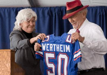 Dean Cammy Abernathy and Dr. Herbert Wertheim