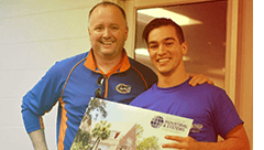 Mike Cottmeyer, LeadingAgile co-founder and CEO, and Jeff Streitmatter, president of the UF chapter of IISE