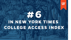 NY Times: UF No. 6 among colleges doing the most for the American Dream