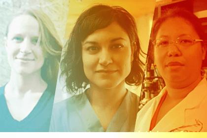 Christine Angelini, ESSIE; Aysegul Gunduz, BME; and Michele Manuel, MSE