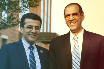 Dr. Mark Tehranipoor, Ph.D. (UF) and Dr. Waleed Khalil, Ph.D. (Ohio State), co-directors of the CYAN and MEST Centers of Excellence