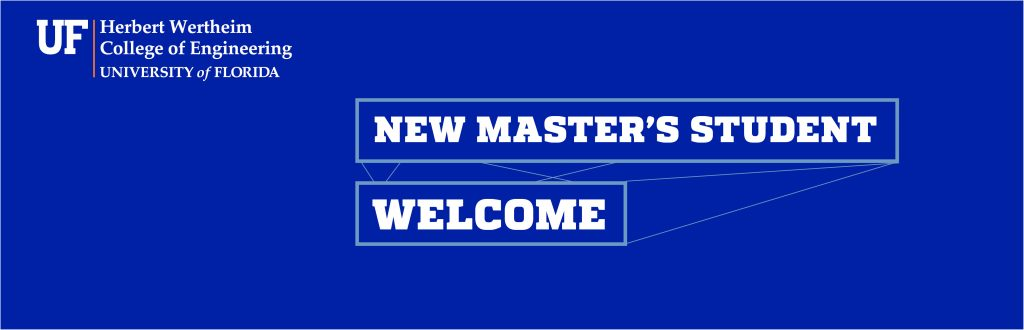 Master's Student Welcome Banner