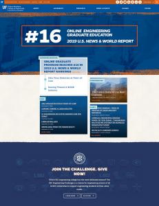 Screenshot of the UF HWCOE WordPress theme