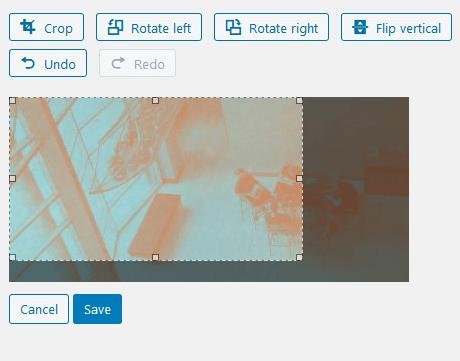 Screenshot of Image Crop interface