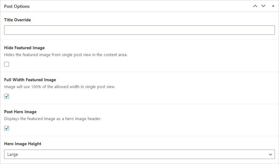 Screenshot of Post Options meta box