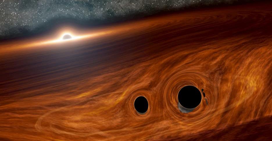Illustration of black holes