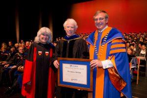 Dean Cammy Abernathy, Jim Allchin and UF President Kent Fuchs