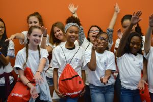 Girls Engaged in Gator Engineering Day participants