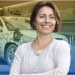UFTI director Lily Elefteriadou with an autonomous vehicle