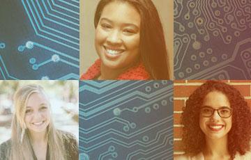 From left: Lexie Krehbiel, Christina Gardner-McCune, Ph.D., and Ana Jelacic