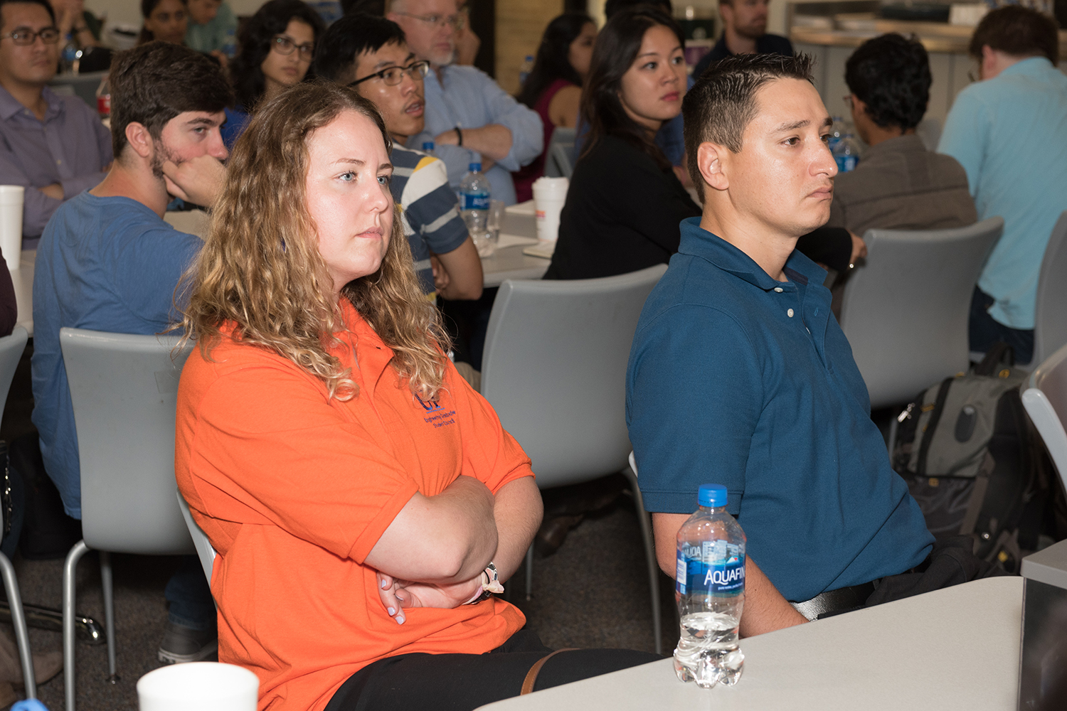 Pictured Left to Right: Julie Jameson (UF Chemical Engineering), Lab Safety Manager for Dr. Tanmay Lele's lab, and James Fleetwood, Laboratory Safety Coordinator for the Herbert Wertheim College of Engineering.