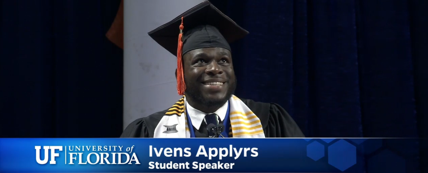 Ivens Applyrs, commencement speaker