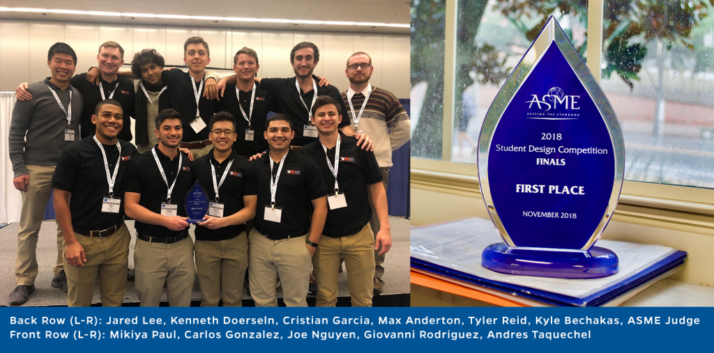 ASME group and trophy