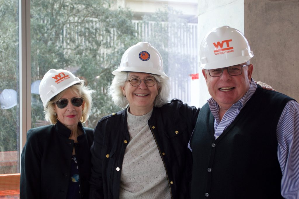 Group photo with hard hats