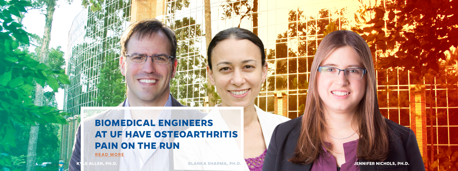 BIOMEDICAL ENGINEERS AT UF HAVE OSTEOARTHRITIS PAIN ON THE RUN