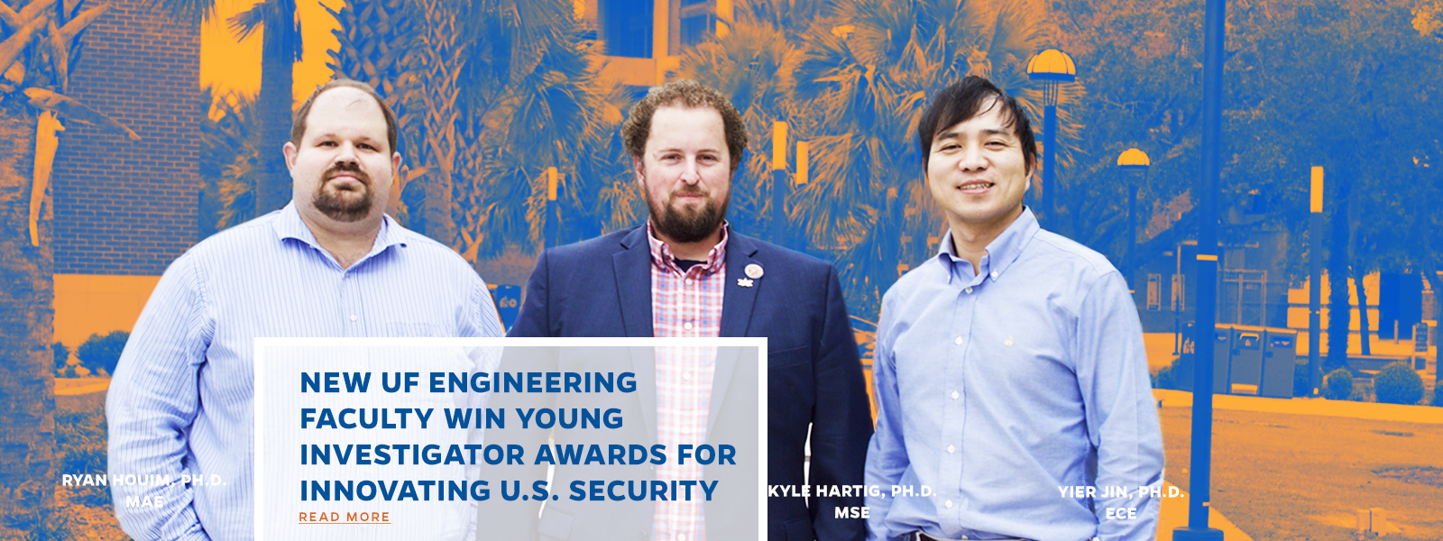 New UF Engineering Faculty Win Young Investigator Awards For Innovating U.S. Security