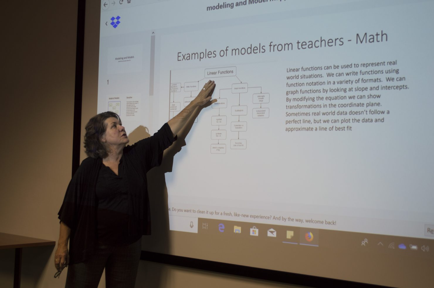 Nancy J. Ruzycki, Ph.D. leads session at UF Professional Development Workshop for STEM Teachers