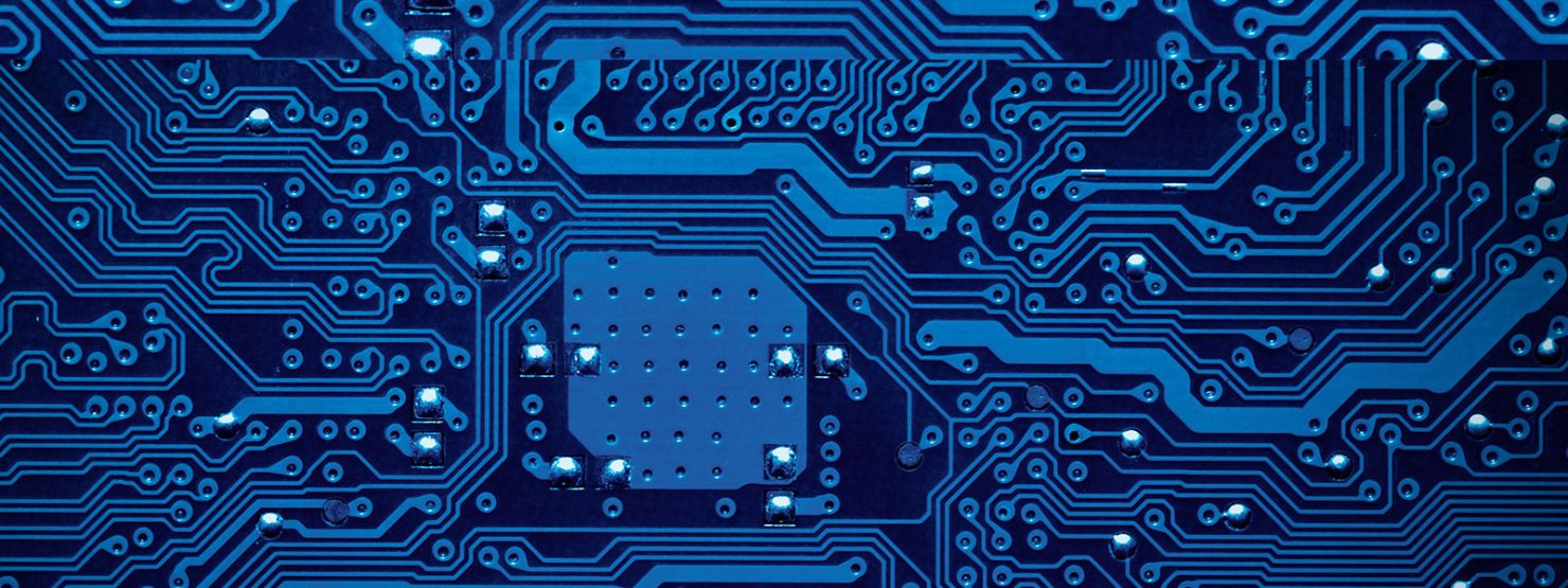 Image of a blue circuit board