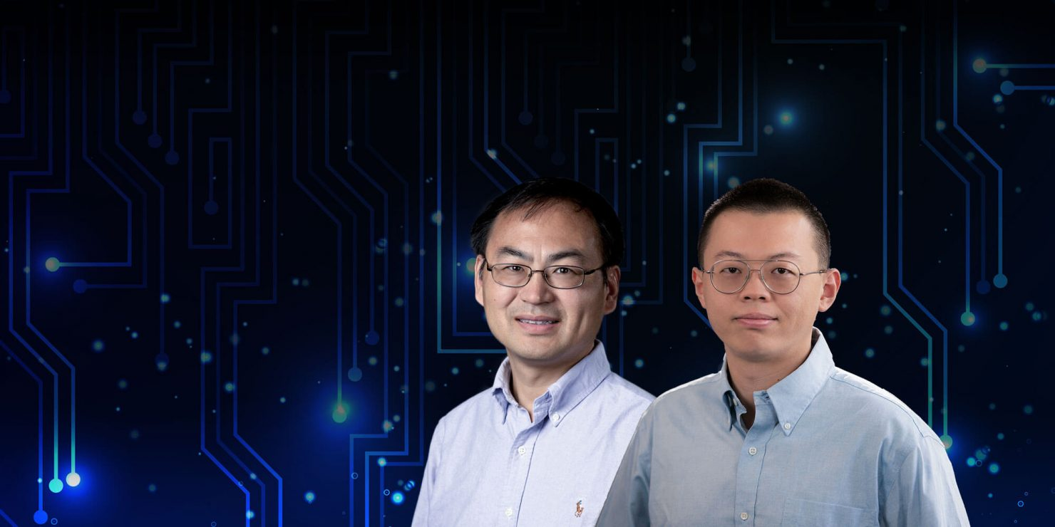 Shigang Chen, Ph.D., IEEE Fellow and professor in CISE, and Kejun Huang, Ph.D., assistant professor in CISE