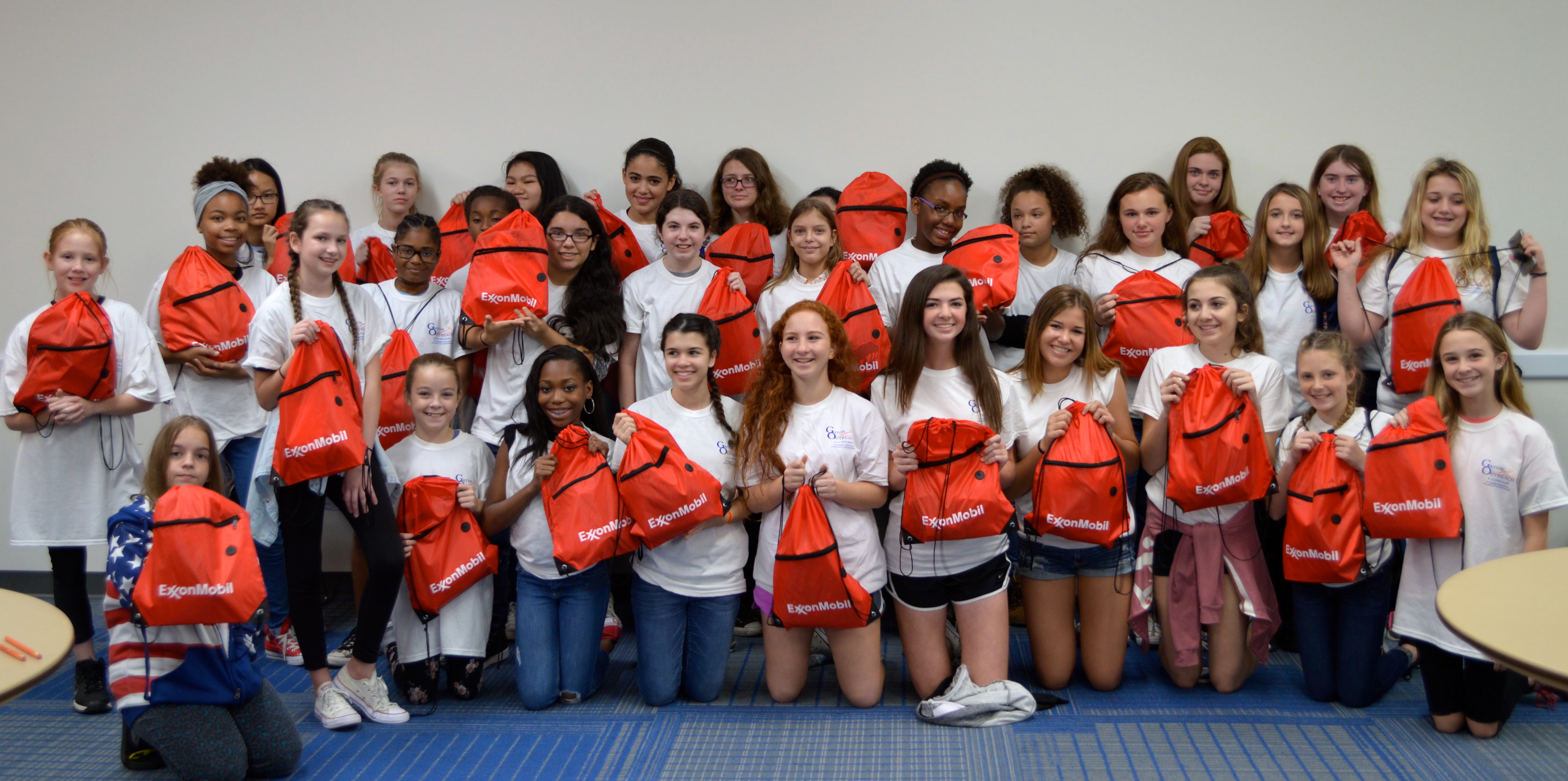 Gator Outreach & Exxon Mobil Celebrate as 34 middle school girls participate in Girls Engaged in Gator Engineering Day!!!