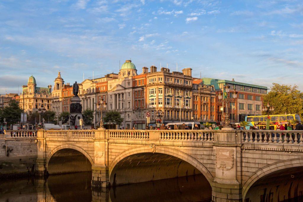 Dublin city view