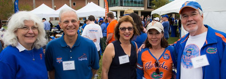 Attendees at the 2018 Alumni Reunion Tailgate