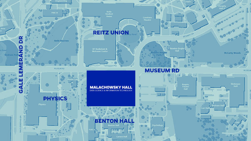 Map of the area where Malachowsky Hall will be built