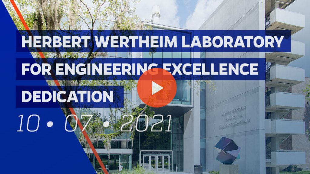 Video link to the Herbert Wertheim Laboratory for Engineering Excellence dedication ceremony livestream